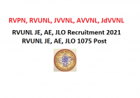 RVUNL JE, AE, JLO Recruitment 2021 –RVUNL JE, AE, JLO 1075 Post