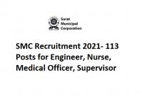 SMC Recruitment 2021- 113 Posts for Engineer, Nurse, Medical Officer, Supervisor