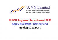 UJVNL Engineer Recruitment 2021 Apply Assistant Engineer, Geologist 21 Post